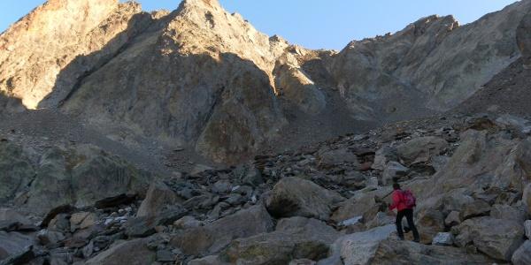 Geröllrinne zum Passo di Dentriti