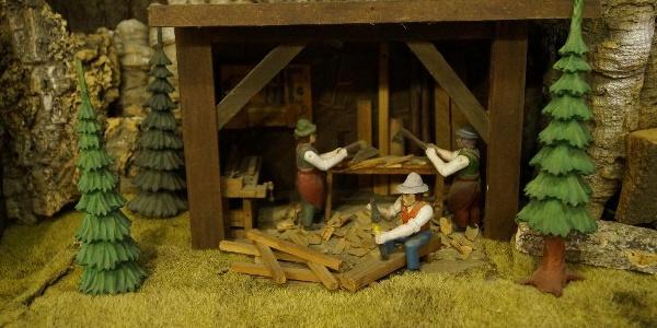 Weihnachtsberg im Schnitz-Museum Thum OT Jahnsbach