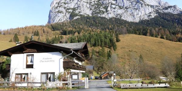 Gasthaus Obermayerberg auf der Südseite der Reiter Alm