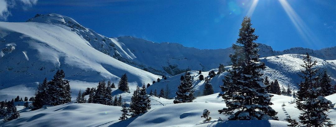 Traumhafte Winterlandschaft auf der Elsigenalp.