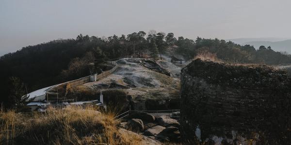 Ausblick von der Burg auf das Gelände