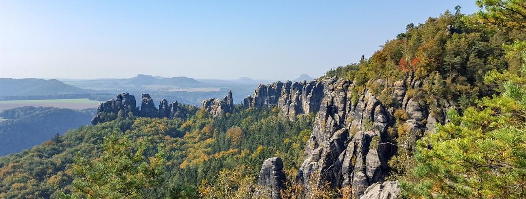 Grandiose Aussichten vom Schrammsteinweg