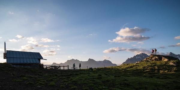 Alp Laret oberhalb Ftan