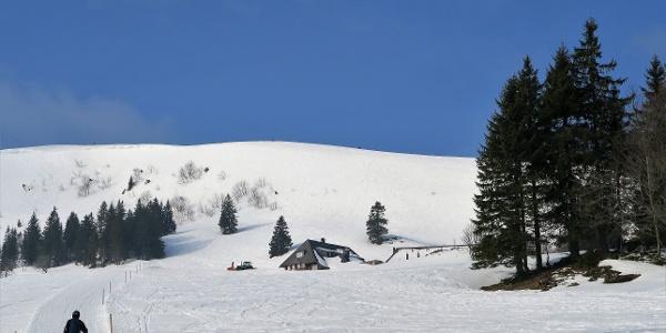 Aufstieg zur Baldenweger Hütte.