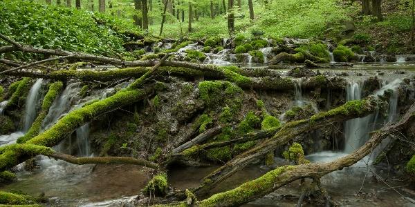 A varázslatos Nagy-Mély-völgy mésztufagátas vízesései