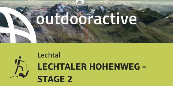 Hochtour im Lechtal: LECHTALER HOHENWEG - STAGE 2