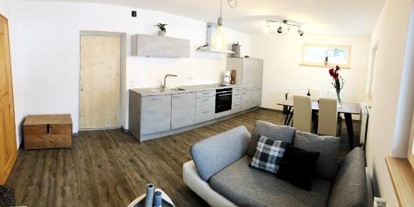 Apartment Silbertal Wohnküche (Large)