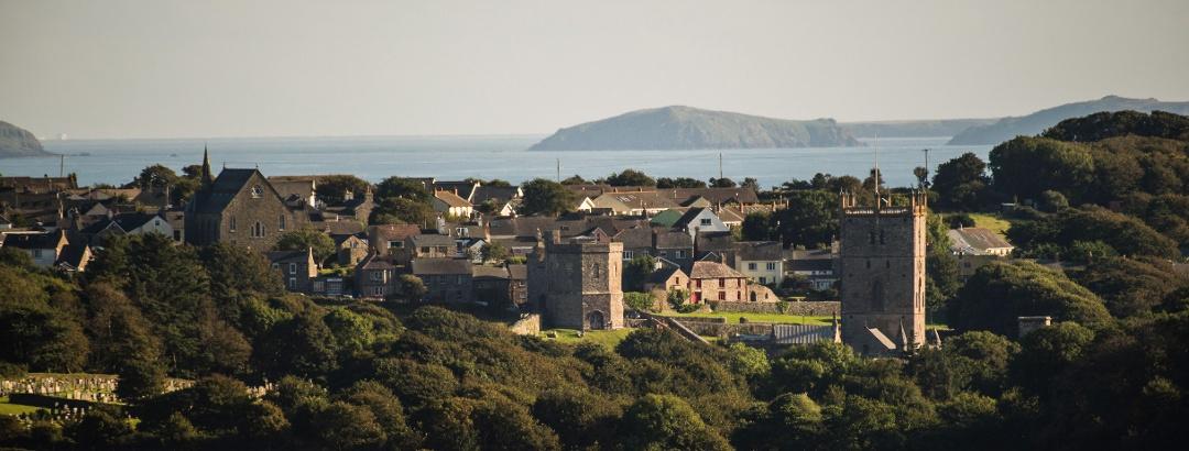 Blick auf St. Davids an der Südwestspitze von Pembrokeshire