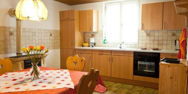 Fewo 1 Küche und Essbereich