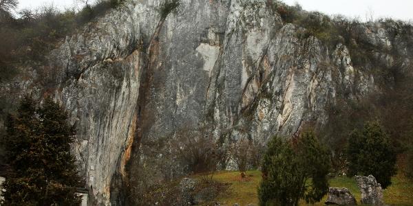 Baradla-barlang bejárata, túránk kezdőpontja