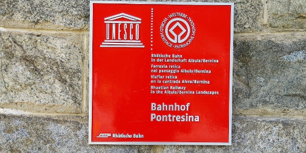 Bahnhof Pontresina.