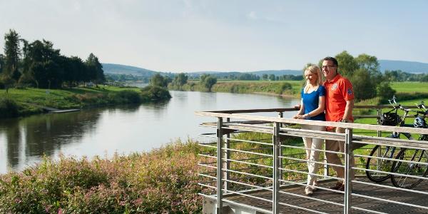 Aussichtsplattform Weserpromenade bei Höxter