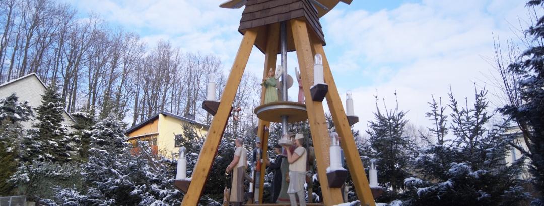 Vánoční pyramida v Dittersdorfu