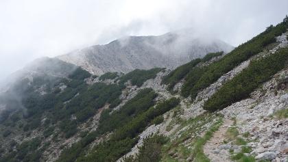 Der Militärweg (Via Alta del Monte Baldo) - Hintergrund Punta Telegrafo