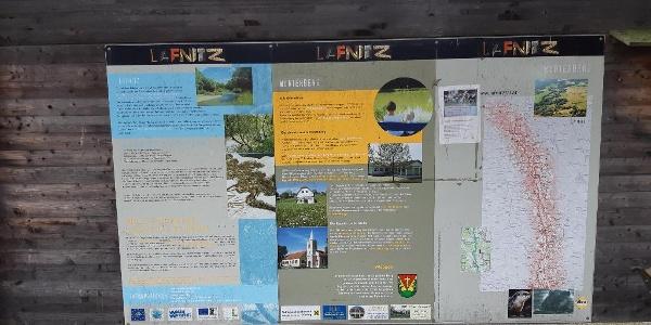 Tafel bei der Aussichtswarte Wörterberg