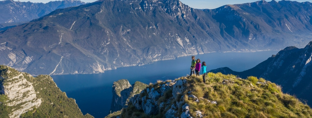View on lake Garda from the trail
