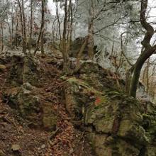 Felsformationen während des Aufstieges
