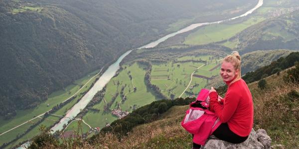 High above the Soča River