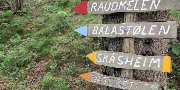 Signposting near Balestrand
