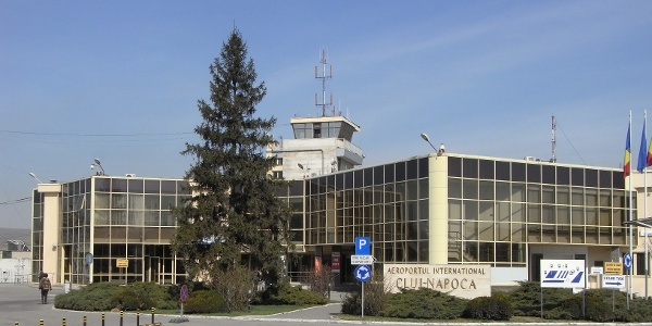 The main building of the international airport of Cluj-Napoca