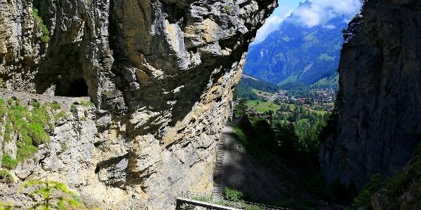 Blick aus dem Gasterntal Richtung Kandersteg.