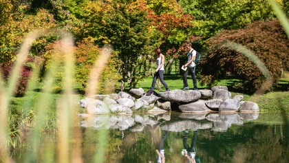 Il laghetto del Parco delle Terme di Comano