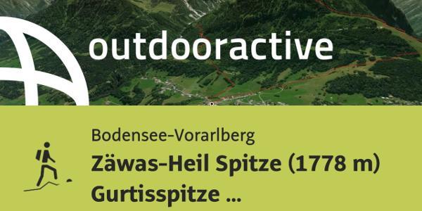 Bergtour in der Region Bodensee-Rheintal: Zäwas-Heil Spitze (1778 m) ...