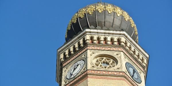 A Dohány utcai zsinagóga díszes tornya