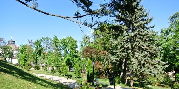 A balatonfüredi Vaszary Villa kertje