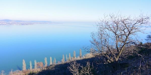 Téli Balaton az Óvárról