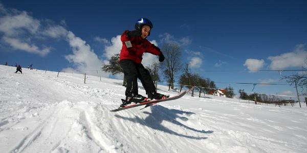 Skifahren am Haldenlift