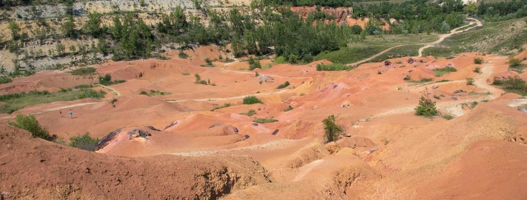A Bagoly-hegyi feltárás, ma a bányászatot bemutató földtani park