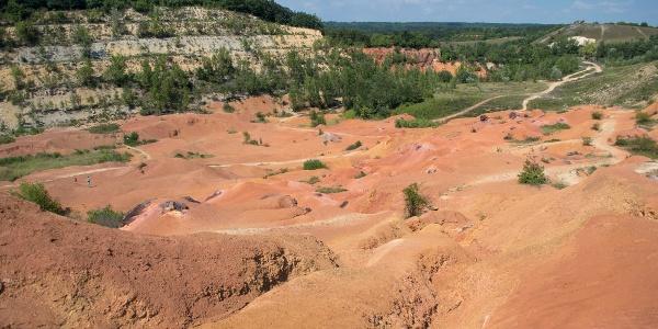 A Bagoly-hegy feltárása, ma a bányászatot bemutató földtani park