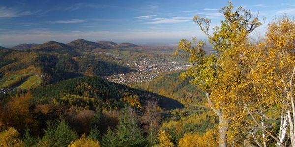 Blick vom Rockert auf Gernsbach