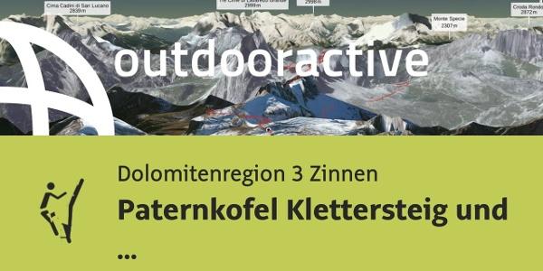 Klettersteig in der Dolomitenregion 3 Zinnen: Paternkofel Klettersteig und ...