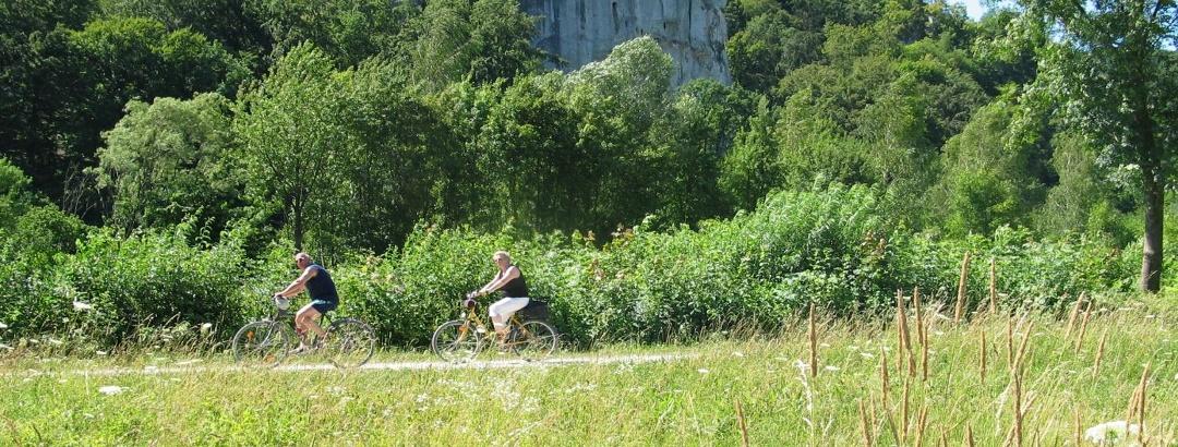 Radfahren im Altmühltal bei Essing