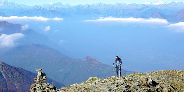 Auf dem Gazzirola-Gipfel.