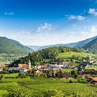 Views of Wachau Valley from Spitz, Austria