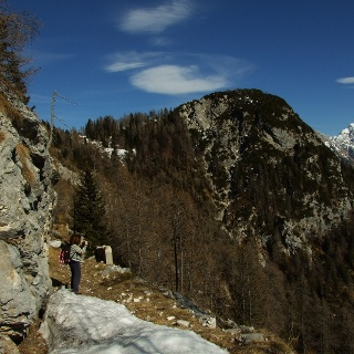 Last section of the trail and Mt. Triglav on the right