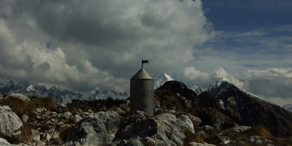 Top of Mt. Svinjak with the miniature tower