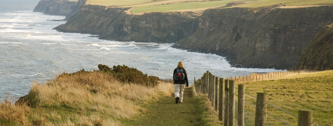 Walker on the Cleveland Way
