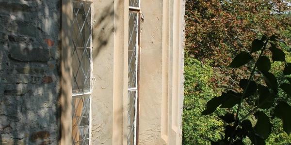 Blick auf die Fenster im Schlossturm
