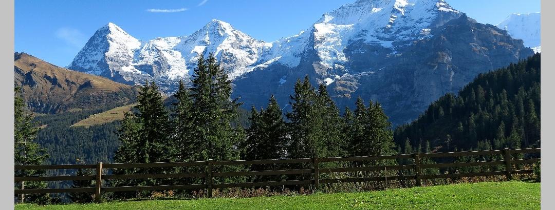 Eiger, Mönch und Jungfrau, gesehen von Winteregg.