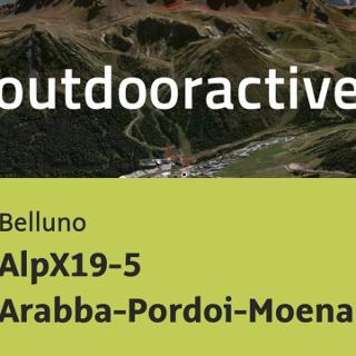 Mountainbike-tour in Belluno: AlpX19-5 Arabba-Pordoi-Moena