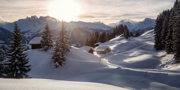 Winterimpressionen am Fritzensee in Bartholomäberg