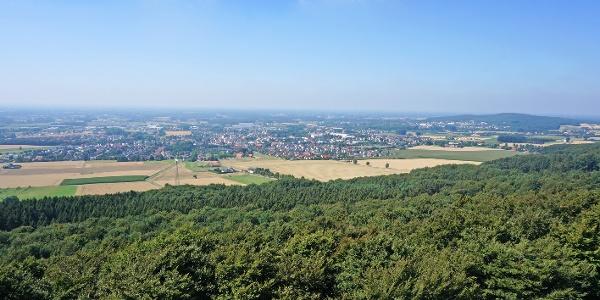 Blick vom Aussichtsturm Steinegge