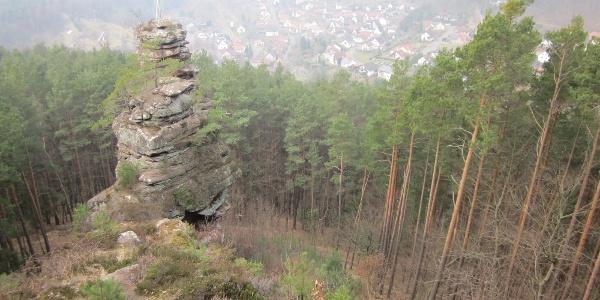 Hornstein, mit Blick auf Lug