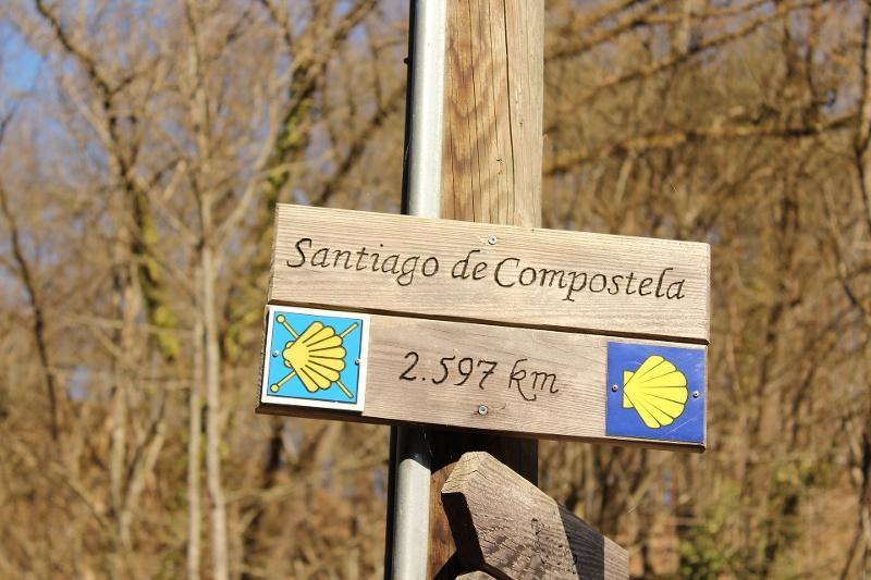 Schild nach Santiago