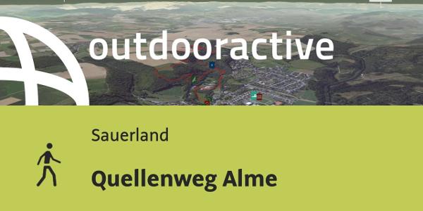 Wanderung im Sauerland: Quellenweg Alme