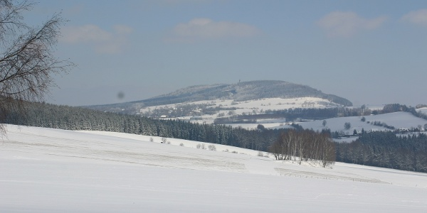 Blick zum Pöhlberg bei Annaberg-Buchholz